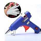 Klebepistole, yanhuanchan Mini Heißklebepistole mit 30 Stück Klebesticks Hochtemperatur schmelzklebepistole für DIY kleine Handwerkprojekte und schnelle Reparaturen (30 Watt, Blau)