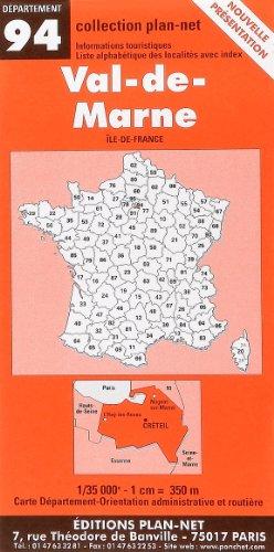 Carte routière : Val-de-Marne