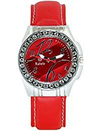 Rabela Analog Red dial women's Watch RABFATR