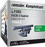 Rameder Komplettsatz, Dachträger SquareBar für Ford Focus II Turnier (115961-05397-193)