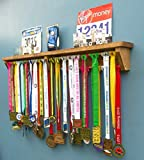 Medal Hanger Holder Wooden Trophy Shelf Display Rack For Running Race Trophies. Gift Idea Medal Hangers for runners Boxing Gymnastics Triathlon Football Iron-man Rugby Dance taekwondo