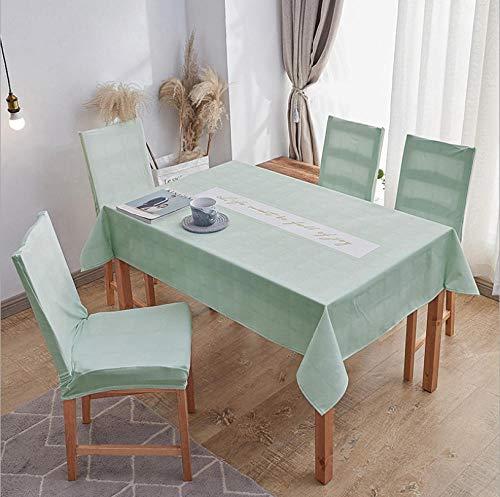 ZZZXX Tischtücher Tischdecke Tischdecken wasserdichte Tischdecken Einfache Pastorale Tischdecke Hintergrund Tuch Flachs Tischdecke Wohnkultur, Grün Abstraktes Quadrat
