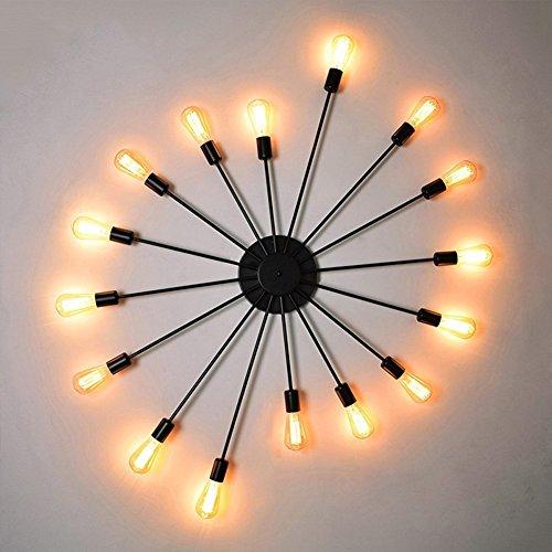 Modeen Industrial E27 16-Lights Lámpara de Techo Lámpara de araña Retro Creativa...