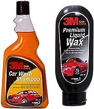 3M Car Shampoo (500ml) & 3M Premium Liquid Wax (200ml) Combo
