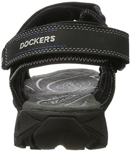 Dockers by Gerli 36li014-447100, Sandales Bout Ouvert Homme Noir (Schwarz 100)