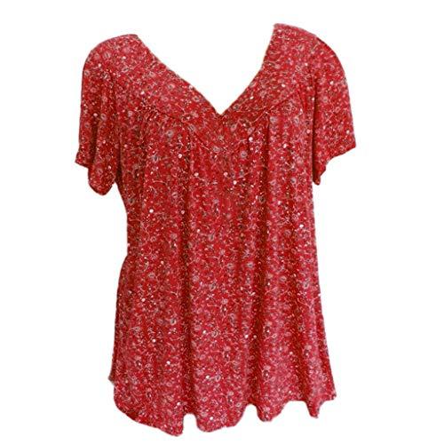 Bluse Damen Herbst Shirt Lose Hemd 3/4 Ärmel O-Ausschnitt Langarm Sweatshirt Knopf Fünfzackigen Stern Hot Drill Tops Oberteil Langarmshirt Tunika -