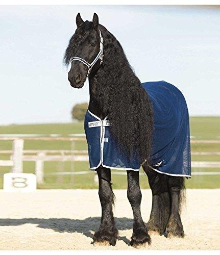 Horseware Amigo Net Cooler - navy/silver, Groesse:145