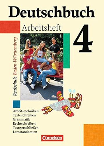 Deutschbuch - Realschule Baden-Württemberg: Band 4: 8. Schuljahr - Arbeitsheft mit Lösungen