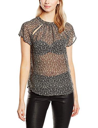 ONLY onlDIMA S/S TOP WVN-T-shirt  Donna    Mehrfarbig (Black AOP:CHELSEA ZIGZAG BLACK) 44