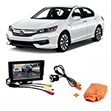 #2: Fabtec Premium Quality 5.0 Inch Full Hd Dashboard Screen With LED Night Vision Water proof Car Rear View Reverse Parking Camera With Microfiber Glove Free For Honda Accord