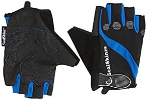 Sealskinz Fingerless Cycle Gloves - Black/Blue, Medium