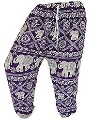 by soljo - Pantalon pantalons de loisirs sportifs pantalon Elephant pourpre
