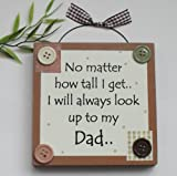 Best Dad/ Fathers day/ Birthday Wooden Keepsake Gift Plaque Brown