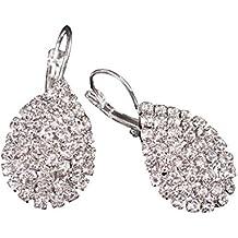 dd227e31483 JAKU Linda dama de cristal pendientes de diamantes de imitacion elegante  joyeria