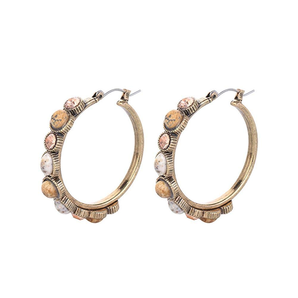 Women Fashionable Hoop Earrings,Vintage Resin Earrings