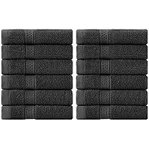 Utopia Towels - Toallitas de algodón de lujo (paquete de 12, gris, 30
