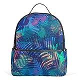 COOSUN Tropicali foglie di palma scuola zaino leggero della tela di canapa del sacchetto di libro per bambini ragazzi ragazze Multicolor # 001
