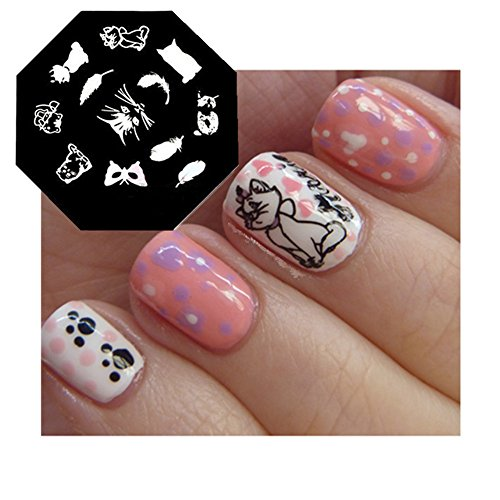 Born Pretty 1 Plaque De Stamping Chat Mignon -QA40
