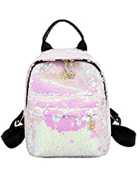 ff6b615756 asiproper Street Style Shining Sequins Leather Women Backpack Casual Girls  Small School Travel Shoulder Party Bag