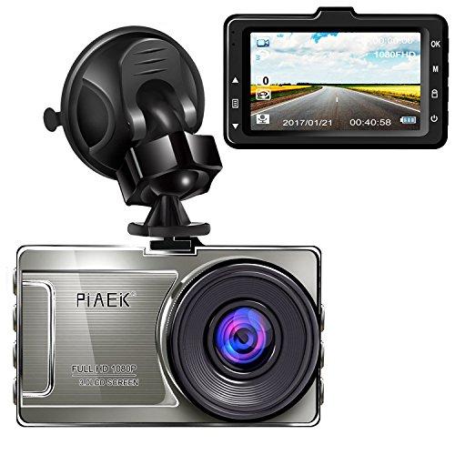 Cámara para Coche Full HD 1080P Dashcam DVR 170° Gran angular 3'' LCD WDR Visión nocturna Detección de movimiento Aparcamiento Monitor Grabación de bucle G-Sensor (Tarjeta Micro SD No Incluida En El Paquete)