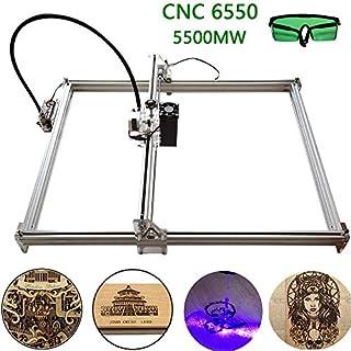 MISSICEE Laser 5500mw Laser Graviermaschine 6550 CNC Laser Engraver Engraving Machine, Gravurfläche 650X500 mm einstellbare Laserdrucker Carving & Schneiden mit Schutzbrille