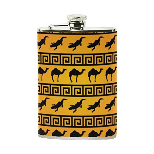 jeansame Personalisierte Hip Drink Fläschchen 8Oz Edelstahl für Männer Frauen Vintage Camel Animal Vintage Camel