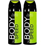 ARIS BODY SPEED DEODORANT BODY SPRAY FOR MEN COMBO (PACK OF 2, 200 + 200 = 400 ML.)