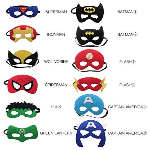 Blesser Superhero Maske für Karneval, Kinder, Halbmaske, Halloween, Maskerade, Party, Cosplay, Herren und Damen, Geschenk für Partys, Geburtstag, für Jungen und Mädchen