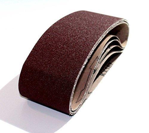 25 Gewebe - Schleifbänder 75x533 mm/Körnung je 5x Korn 40, Korn 60, Korn 80, Korn 120, Korn 180,/Mix/Schleifpapier/Schleifbänder/Bandschleifer
