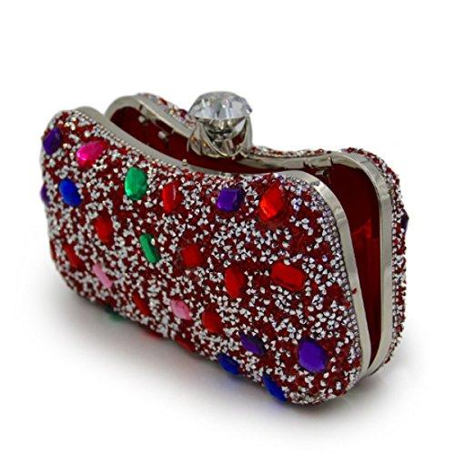 Frauen-Luxus-Abendtasche Kristall-Diamant-Griff Tasche C