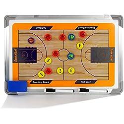 a-nam entrenadores de baloncesto táctica Junta, imán entrenamiento Borad con marco de aleación de aluminio, rotulador y borrador