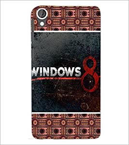 PrintDhaba Windows 8 D-5096 Back Case Cover for HTC DESIRE 820 (Multi-Coloured)