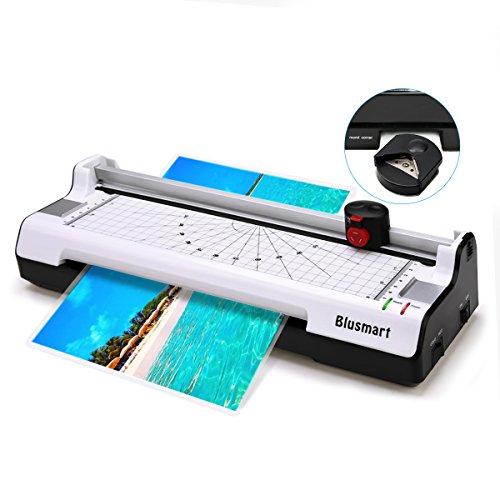 3 in 1 Blusmart BL01 Laminiergerät, Heiß- und Kaltlaminiermaschine mit Rotationsschneidemaschine für Papier/ Schneidemaschine & Eckenabrunder, 2-Walzensystem, beugt Papierstau vor