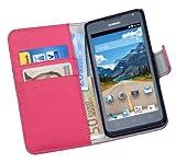 yayago Praktische Book-Style Tasche in Pink mit