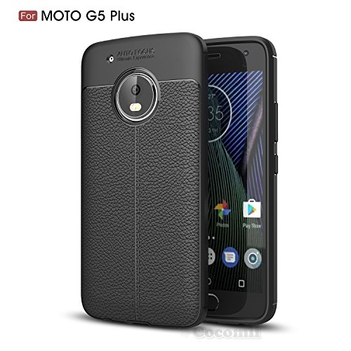 Motorola Moto G5 Plus Hülle, Cocomii Ultimate Armor NEW [Heavy Duty] Premium Leather Pattern Slim Fit Shockproof Hard Bumper Shell [Military Defender] Full Body Dual Layer Rugged Cover Case Schutzhülle XT1684 XT1685 XT1687 (Black)