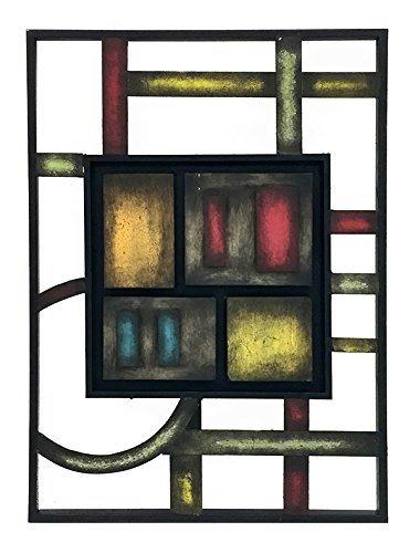 Bellaa 27475 Abstraktes Metall-Wandbild, 69 x 61 cm, Grün -