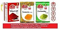 Kumar Kumthi Kashmiri Chilli Powder (200 g), Turmeric Powder (200 g) & Coriander Powder (200 g) (Pack of 3)