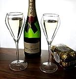 Cosy Trendy Champán Cristal 4pieza doble pared Copas de Champagne Cristal Vasos térmicos