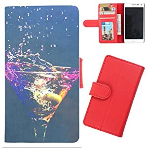 DooDa - For Samsung Galaxy Note 4 PU Leather Designer Fashionable Fancy Wallet Flip Case Cover Pouch With Card, ID & Cash Slots And Smooth Inner Velvet With Strong Magnetic Lock