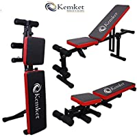 Banco Kemket - para levantamiento de pesas peso ajustable de pesas para el gimnasio multiusos de