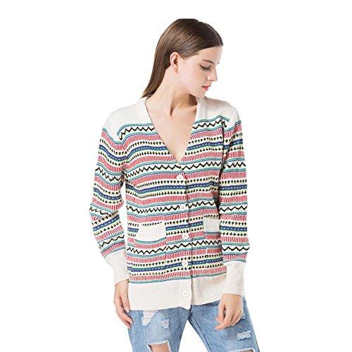 weihnachten stricken sweatshirt frau v ausschnitt lange ärmel streifen strickjacke lose tops elastizität sweatshirts . picture color . one (Kostüme Kinder Religiöse)