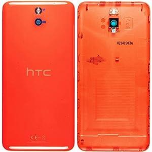 Original HTC Akkudeckel orange für HTC Desire 610 (Akkufachdeckel, Batterieabdeckung, Rückseite, Back-Cover) - 74H02677-03M