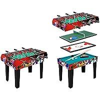 Table Multi Jeux Moko - 4 en 1 – Table baby foot barres téléscopiques 132f340b4346