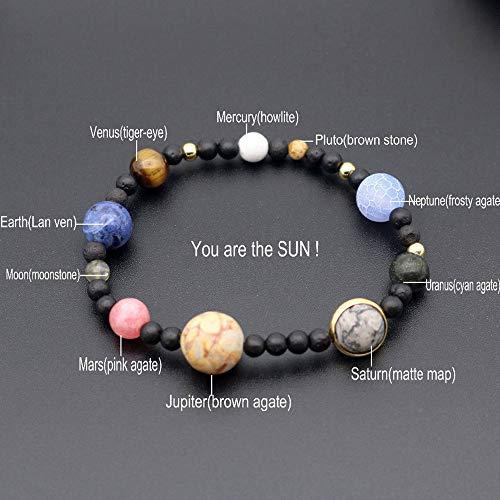 jieGREAT Räumungsverkauf  , Männer Frauen Naturstein Milchstraße Perlen Yoga Armband Armreif