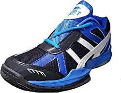 Port Mens PVC Splasher Blue badminton Sports Shoe (8 IND/UK)
