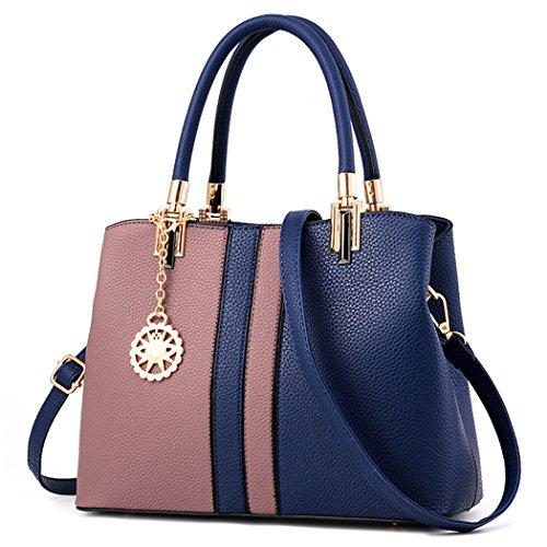 Borsa da Donna, Fanspack Sacchetto del Messaggero di Colore Della Miscela Della Borsa Della Maniglia del Sacchetto di Spalla Dark Blue