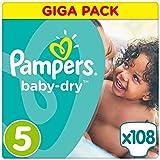 Pampers Baby Dry Größe 5 Junior 11-25kg Giga Pack 4er Pack (4 x 108 Windeln)