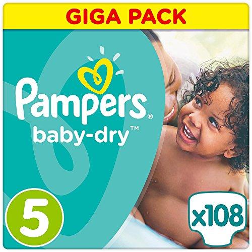 Preisvergleich Produktbild Pampers Baby Dry Größe 5 Junior 11-25kg Giga Pack 4er Pack (4 x 108 Windeln)