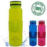 Flexible aufrollbare Sporttrinkflasche von OUTDOOR DEPT Die Faltflasche fasst 650 ml und ist perfekt für Sport, Kindergarten/KiTA, Schule, Uni oder die Arbeit. Wenn die Flasche leer ist rollen Sie sie einfach auf 1/3 Ihrer Größe zusammen und verstaue...