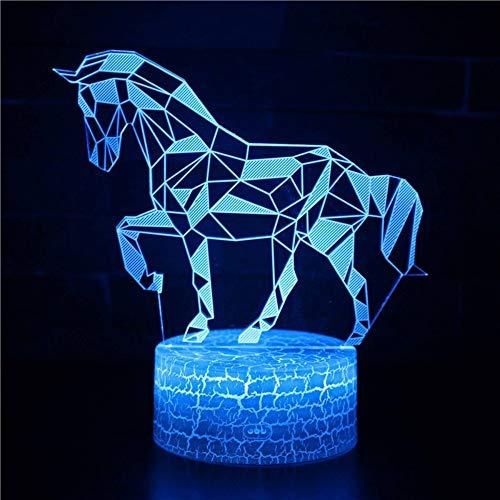 Thema 3D Lampe Majestic Horse LED-Nachtlicht 7 Farbwechsel Touch Stimmung Lampe USB-Ladung für Wohnkultur Perfekte Geschenke für Baby -